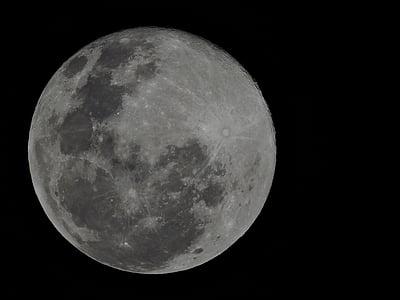 mesiac, noc, Astronómia, povrch mesiaca, spln, planetárna moon, mesačný svit