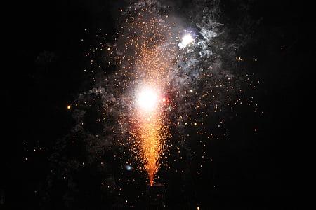 tűzijáték, Szilveszter, rakéta, tűz, sós keksz, durrogtatás, felrobbant