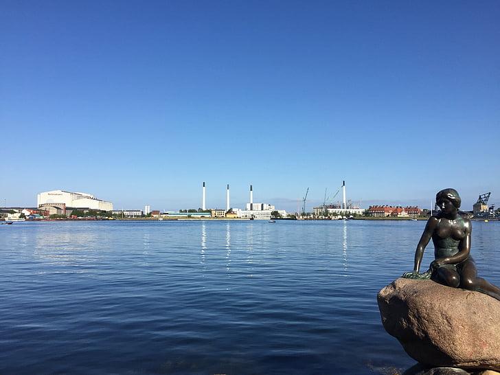 Malá mořská víla, Dánsko, Já?, Malá mořská víla, Kodaň, socha, přístav
