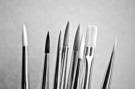 seni, Alat, latar belakang pelukis, cat, pekerjaan, sikat, Hobi