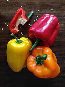 pebre vermell, pebrot, pebre, aliments, Sa, fresc, vermell