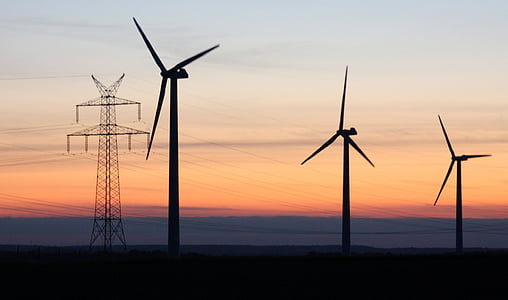electrical engineering, dusk, sunset, electricity, fuel and Power Generation, energy, turbine