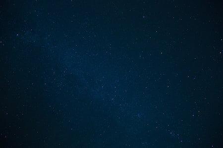 constel·lació, cel, nit, fosc, estrelles, galàxia, fons