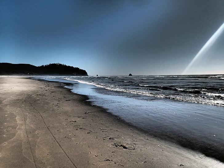 netarts oregon, Playa, Océano Pacífico, noroeste, Océano, naturaleza, paisaje