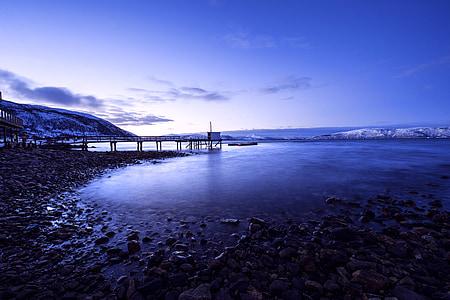 Islandija, dekoracijos, dangus, sniego, ežeras, prieplaukos, Gamta
