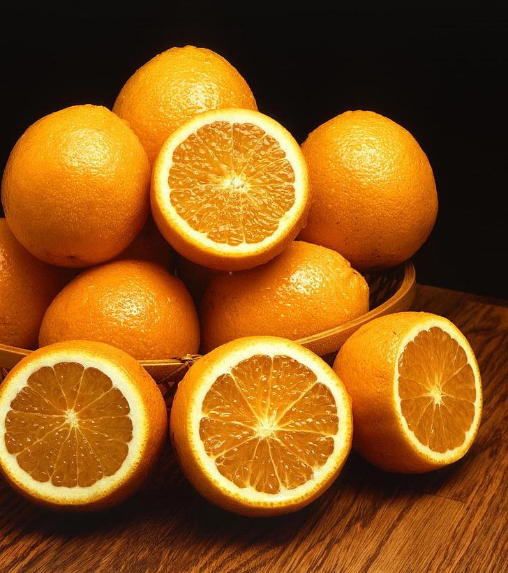 dubuo, vaisių, apelsinai, mandarinų, vaisiai, augalai, floros