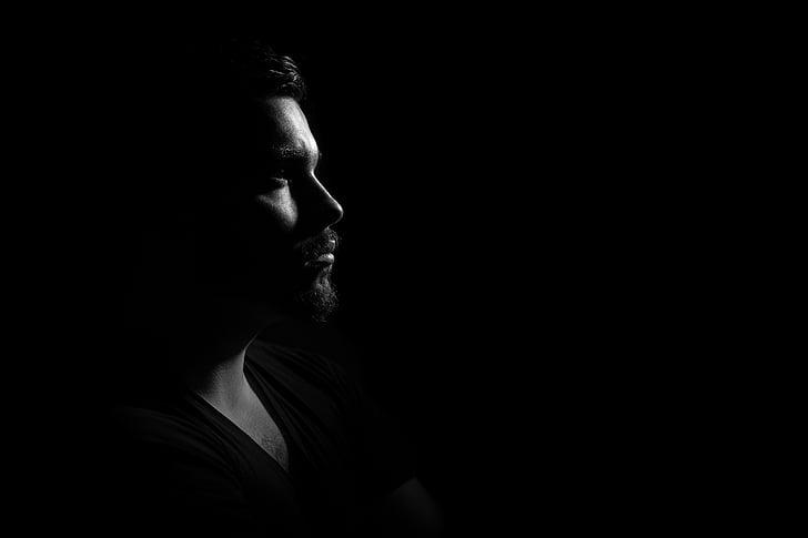 man, studio, portrait, light, of, about, story