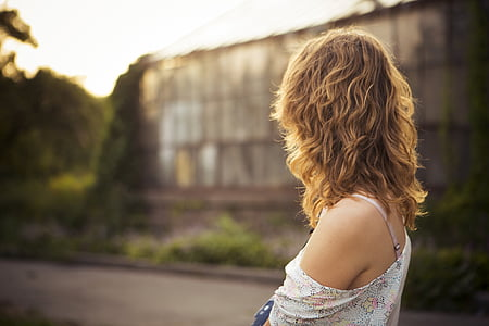 person, woman, young, pretty, shoulder, skin, back