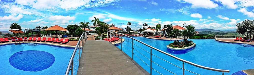 basseng, Resort, Ecuador, svømming, ferie, vann, Sommer