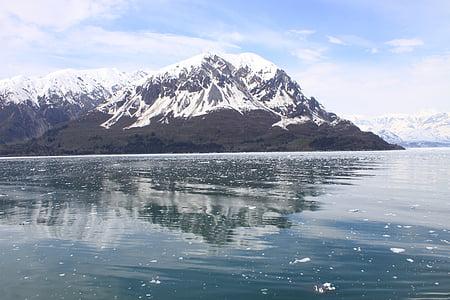 Alaska, muntanyes, neu, escèniques, paisatge, natura