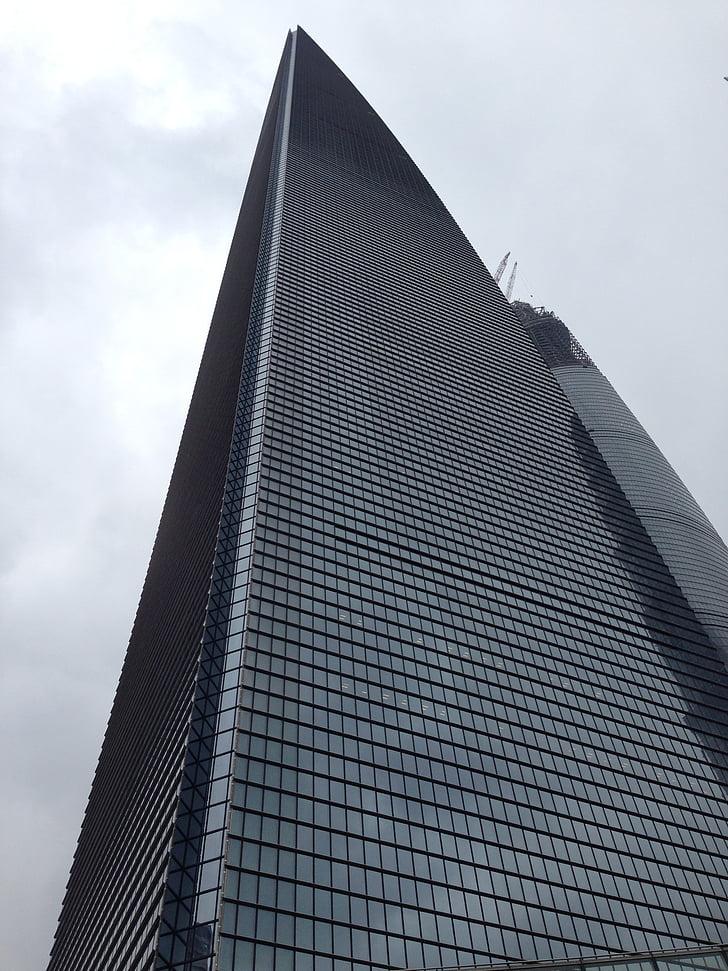 skyscraper, building, shanghai, high