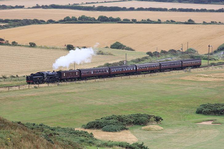 기차, 증기, 증기 기차, 오래 된 기차, 기관차