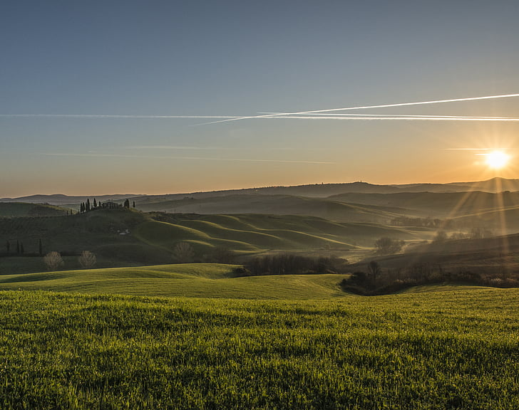 Toscana, paisatge, posta de sol, platja, natura, paisatge natural, Pau