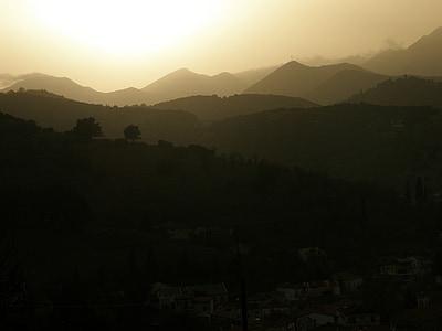 muntanyes, paisatge, posta de sol, l'aire lliure, pic, paisatge de muntanya