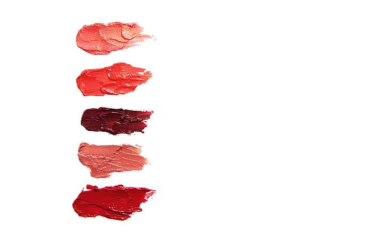 lipstick, cosmetics, lip gloss, lips, red, pink, purple