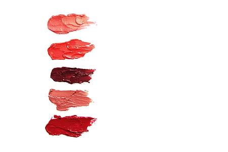batom, cosméticos, brilho labial, lábios, vermelho, -de-rosa, roxo