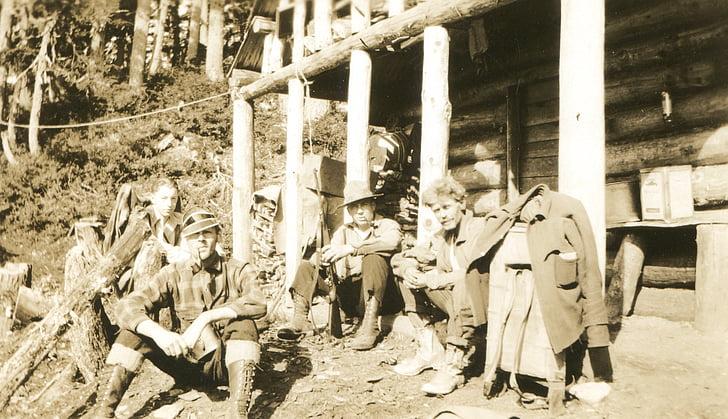 fotos antigues, dels miners, Alaska, anyada, retro, mineria, muntanya