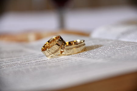 联盟, 圣经 》, 婚姻, 珠宝首饰, 戒指, 婚礼, 黄金