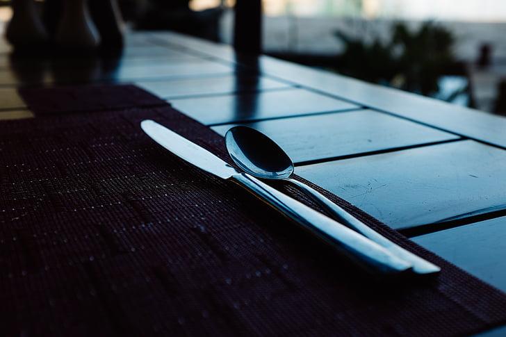 coberteria, taula, sopar, entorn, Restaurant, menjador, taula de menjador