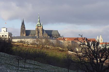 castle, architecture, prague, church, famous Place, europe, cathedral