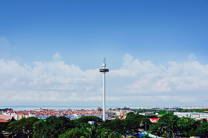 architecture, city, cityscape, sky, tower, urban, sea