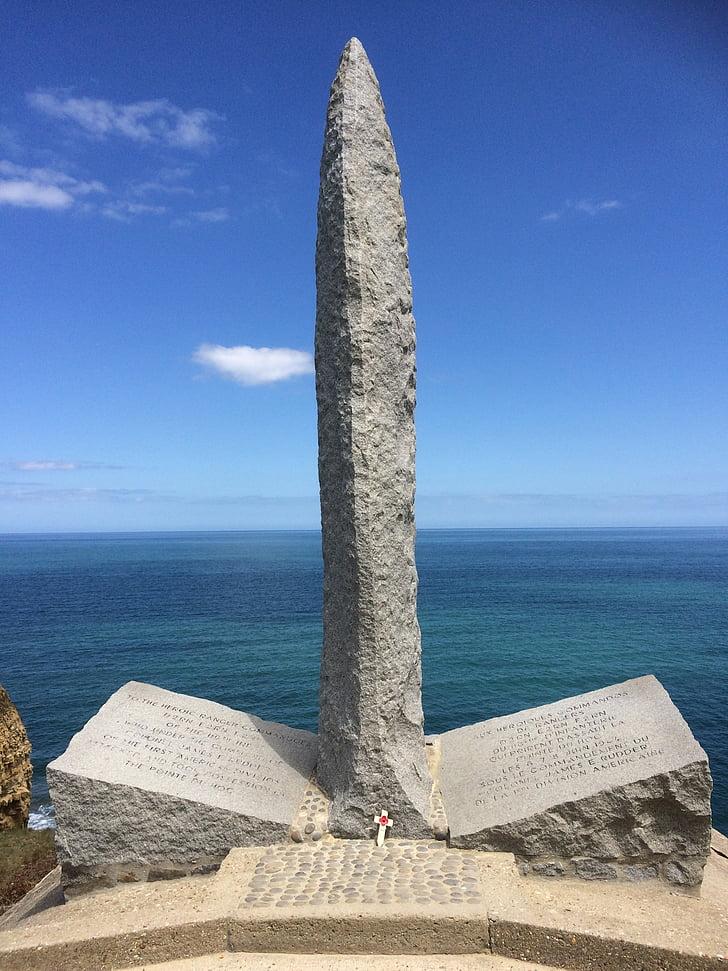 Pointe du hoc, Ranger-Denkmal, Normandie, d-Day