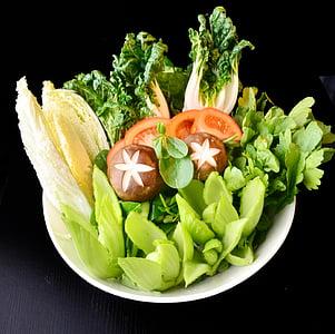 chafing plat, vegetals, salut