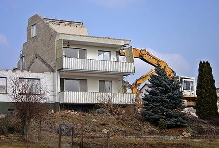 クラッシュ, 解体, ホーム, 建物, サイト, 破滅, 破壊
