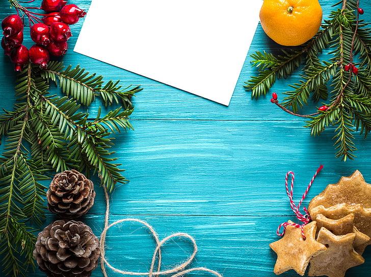 Nadal, cap d any, postal, felicitació, decoracions de Nadal, Espelma, regal