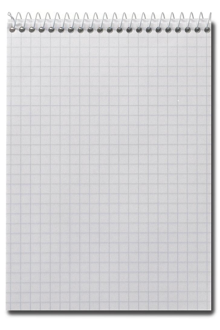 Notisblokk, papir, Merk, Office, papir, kvadrat, ruter