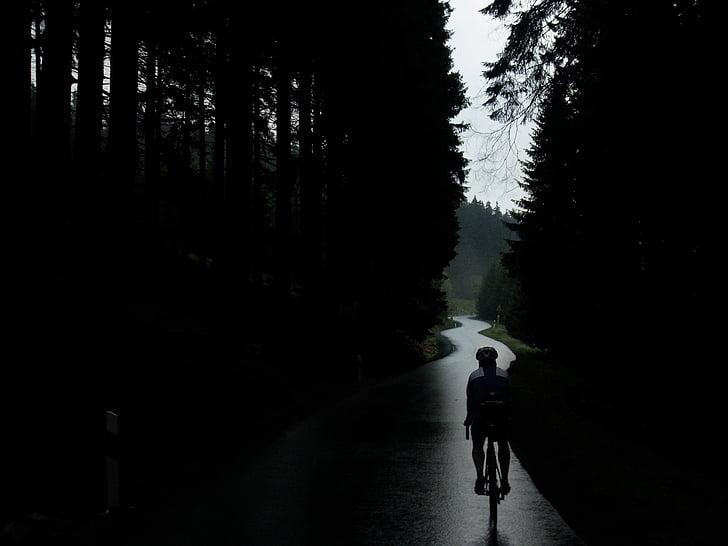 велосипед, Велоспорт, Велосипеды, на велосипеде, больше, дождь