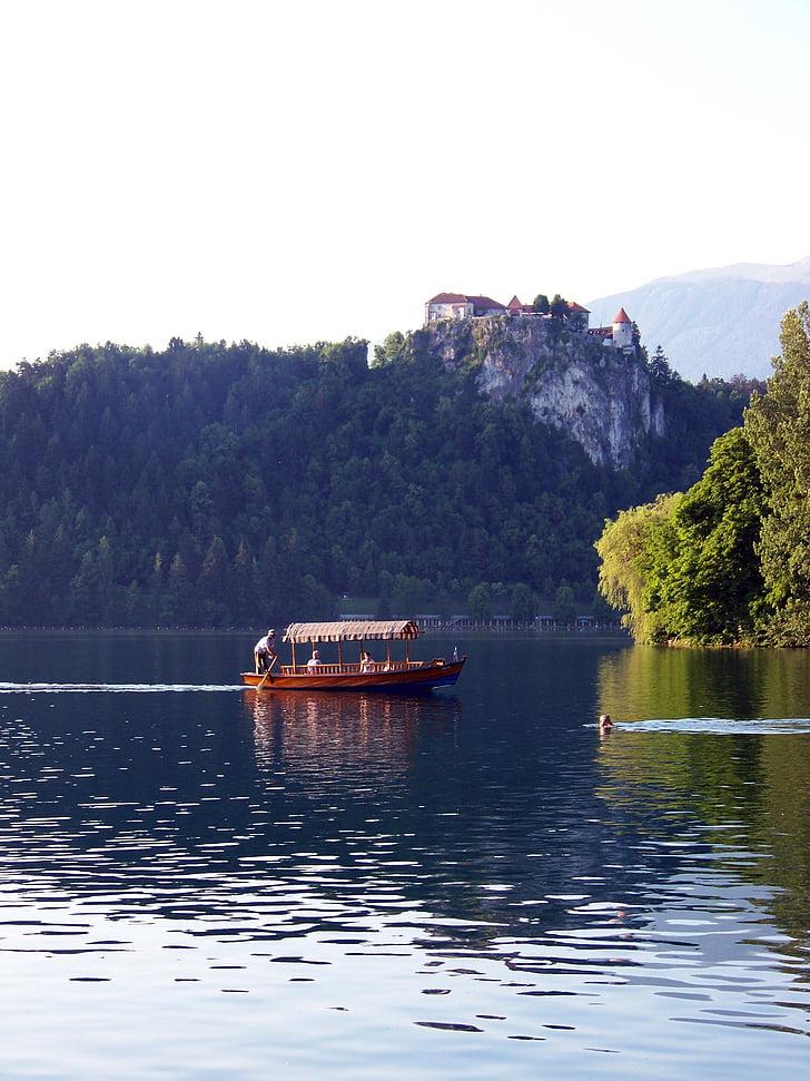 lake bled, slovenia, gondola, boot, karawanken, jumbo, alpine hiking