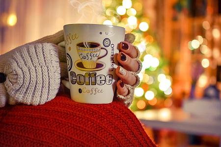 cafè, l'hivern, fred, calenta, beguda, Copa, relaxar-se