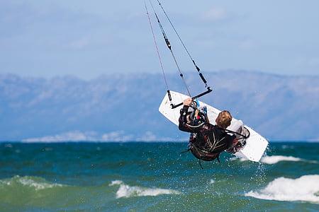 åtgärd, styrelsen, Kapstaden, false bay, Kite, kite boarding, kitesurfing