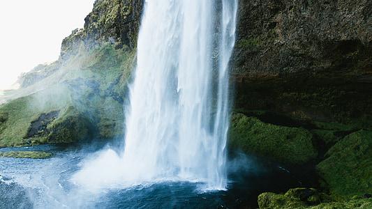 cascadă, ocean, mare, naturale, natura, munte