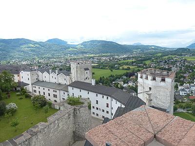 фортецю Хоензальцбург, Замок, фортеця, Орієнтир, Зальцбург, Австрія, місто Хілл