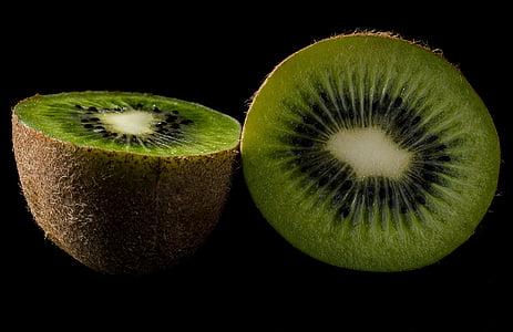 Kiwi, frugt, grøn, rigdommen af, sydlige frugter, frisk, natur