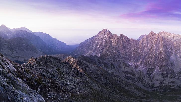 landscape, mountain range, mountains, nature, rocky mountain, sky