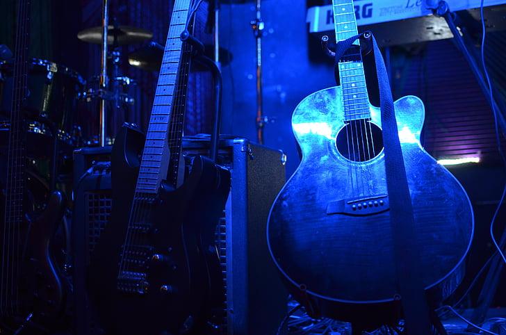gitar, Rock, musikk, konsert, lyd, instrumentet, elektrisk