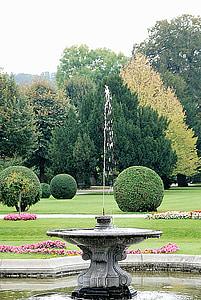 suihkulähde, suihkulähde, Park, puu, muodollinen Puutarha, puisto - mies tehdä tilaa, Luonto