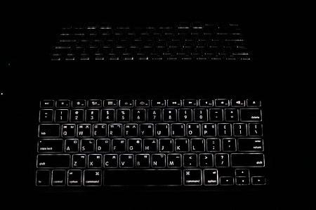 keyboard pro, macbook pro, laptop, keyboard, reflections, lighting