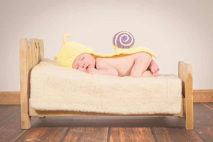 Baby, uni, väike laps, kallistus, Tüdruk, väsinud, ohutuse