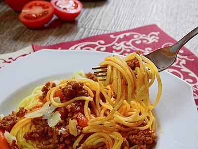pasta, nuudlid, spagetti, spagetid, süüa, toidu, kokk