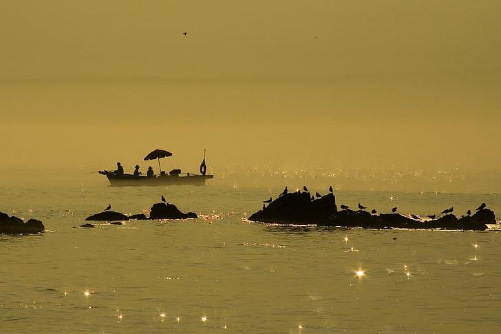 coastal, island, fishing boat, sun mu, sea, fishing, beach