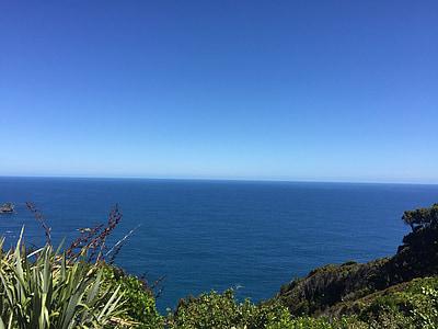 Nova Zelanda, el paisatge, l'oceà Pacífic