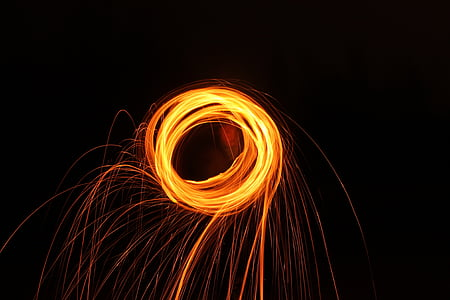 drawing with light, round, light