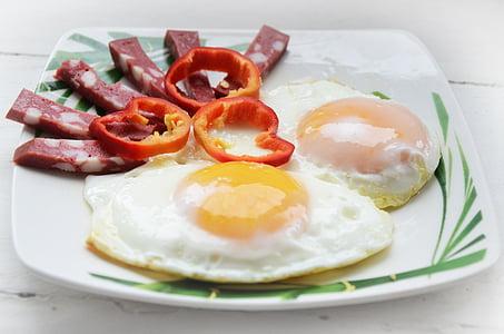 omlet, jaje, doručak, jelo, žumanjak, prehrana, predjelo