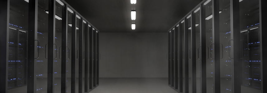 servidor, espai, la sala de servidors, fosc, va portar, llum, mística