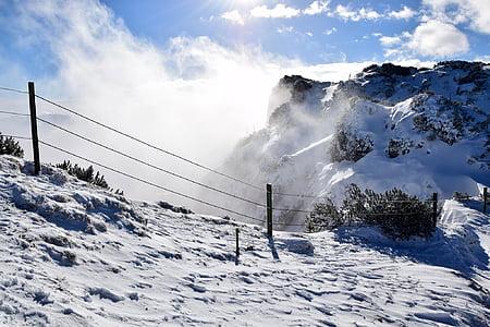 mountains, winter sports, snow, alpine, winter, ski, background