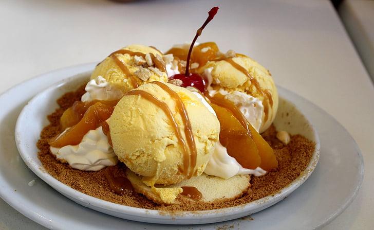dessert mangue au caramel, dessert, alimentaire, Sweet, Zing, tranche de mangue, Yummy
